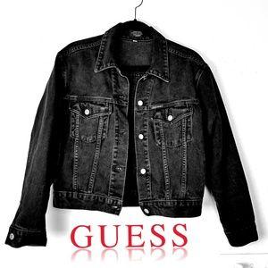 Vintage Men's Guess Denim Jacket || M